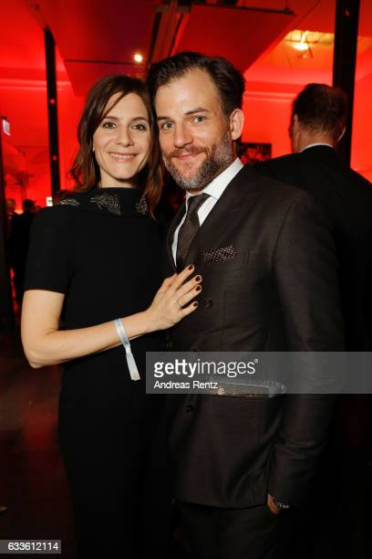 Christina Hecke and Torben Liebrecht attend the German Television Award at Rheinterrasse on February 2 2017 in Duesseldorf Germany