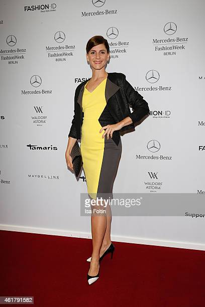 Christina Hecke attends the Laurel show during the MercedesBenz Fashion Week Berlin Autumn/Winter 2015/16 at Brandenburg Gate on January 19 2015 in...
