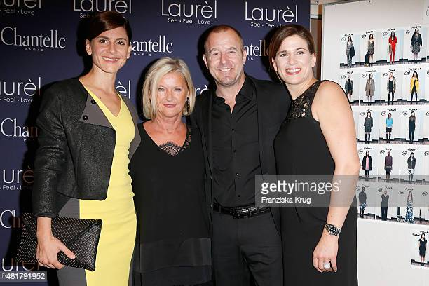 Christina Hecke Elisabeth Schwaiger Heino Ferch and MarieJeanette Ferch attend the Laurel show during the MercedesBenz Fashion Week Berlin...