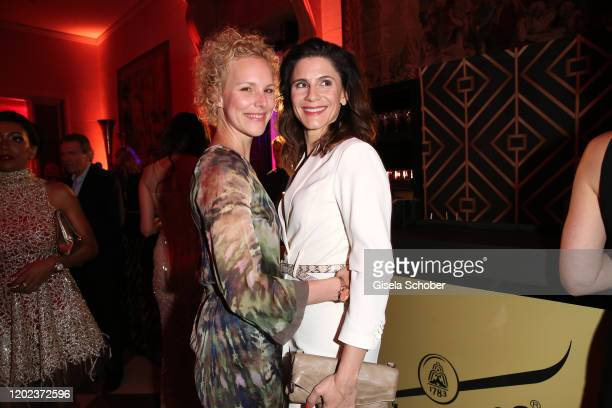 Christina Hecke und her wife Stefanie Henn during the BUNTE BMW Festival Night at Italienische Botschaft on February 21 2020 in Berlin Germany