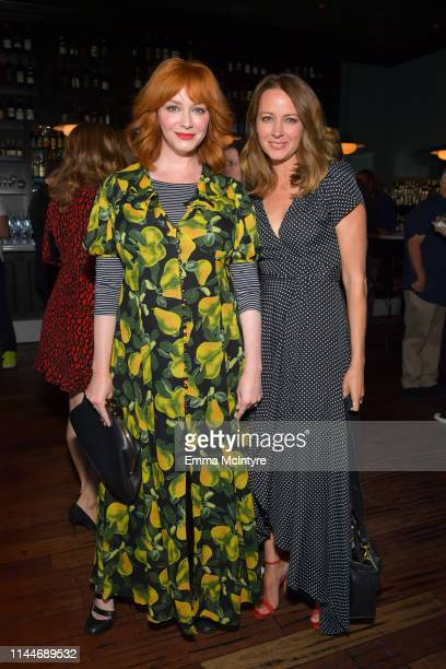 Christina Hendricks and Amy Acker are seen as cookbook author David Burtka and husband Neil Patrick Harris celebrate the launch of Life Is a Party...