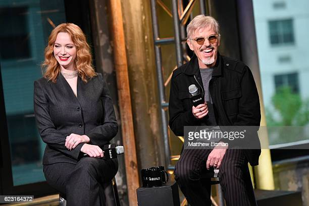Christina Hendricks and Billy Bob Thornton attend The Build Series Presents Billy Bob Thornton Christina Hendricks Brett Kelly Tony Cox Mark Waters...