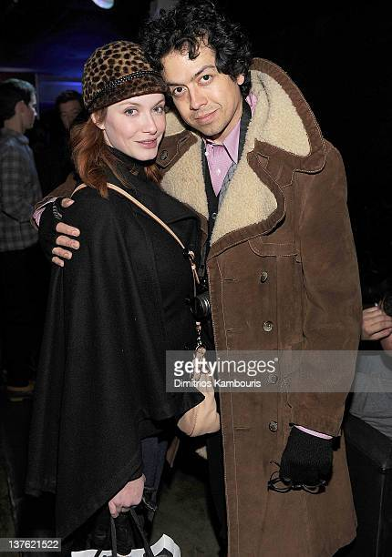 Christina Hendricks and Geoffrey Arend attend the CAA Party In Association With Sheets Energy at Sugar on January 22 2012 in Park City Utah