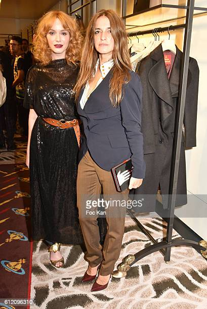 Christina Hendricks and Joana Preiss attend the Vivienne Westwood New Paris Store Opening Cocktail as part of the Paris Fashion Week Womenswear...