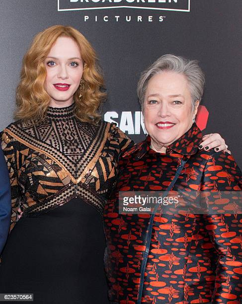 Christina Hendricks and Kathy Bates attend the 'Bad Santa 2' New York premiere at AMC Loews Lincoln Square 13 theater on November 15 2016 in New York...
