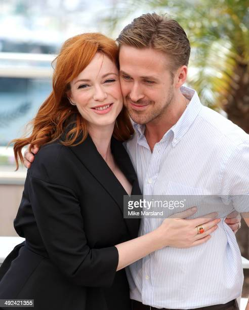 """Christina Hendricks and Ryan Gosling attend the """"Lost River"""" photocall at the 67th Annual Cannes Film Festival on May 20, 2014 in Cannes, France."""