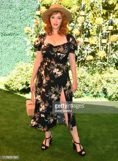 Christina Hendricks arrives at the 10th Annual Veuve Clicquot Polo Classic Los Angeles at Will Rogers State Historic Park on October 05, 2019 in...
