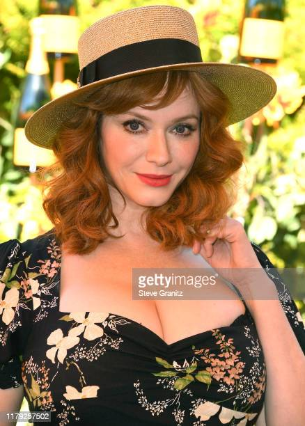 Christina Hendricks arrives at the 10th Annual Veuve Clicquot Polo Classic Los Angeles at Will Rogers State Historic Park on October 05 2019 in...