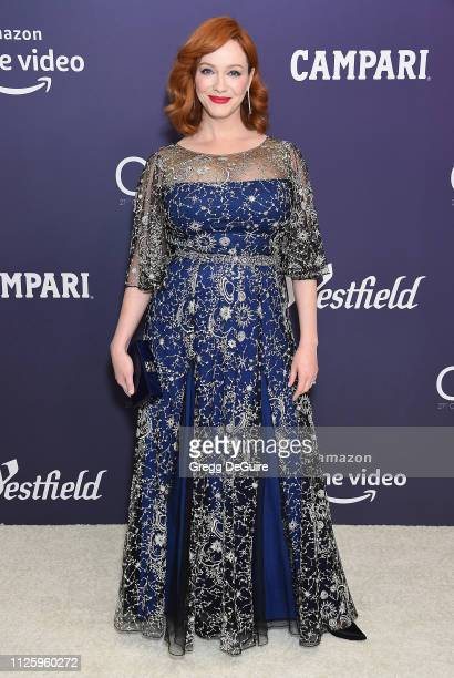 Christina Hendricks arrives at the 21st CDGA at The Beverly Hilton Hotel on February 19 2019 in Beverly Hills California