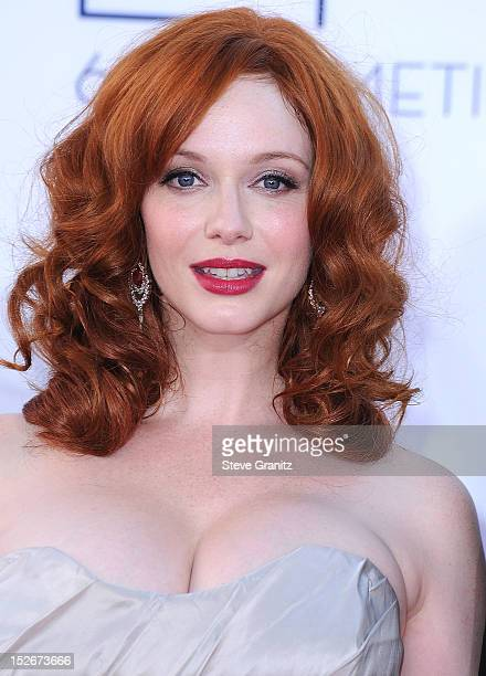 Christina Hendricks arrives at the 64th Primetime Emmy Awards at Nokia Theatre LA Live on September 23 2012 in Los Angeles California