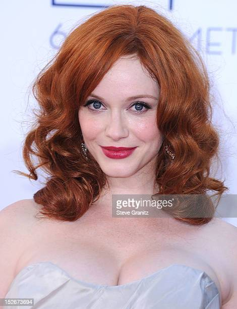 Christina Hendricks arrives at the 64th Primetime Emmy Awards at Nokia Theatre L.A. Live on September 23, 2012 in Los Angeles, California.