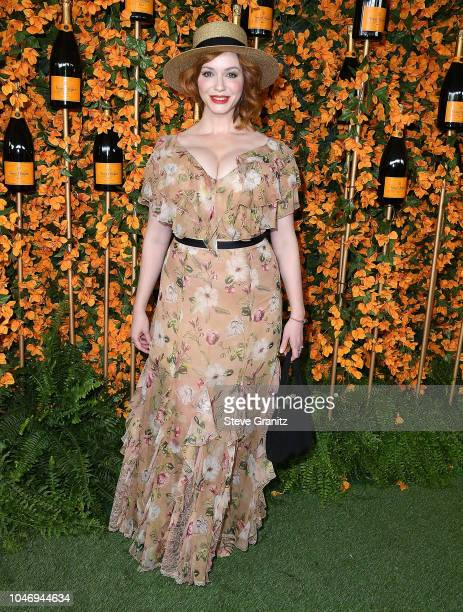 Christina Hendricks arrives at the 9th Annual Veuve Clicquot Polo Classic Los Angeles at Will Rogers State Historic Park on October 6 2018 in Pacific...
