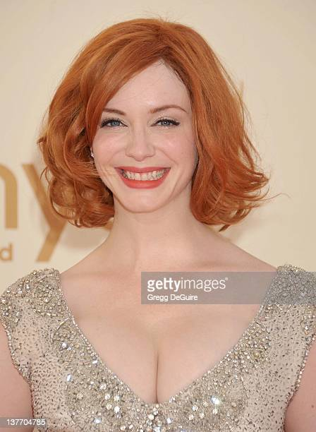 Christina Hendricks arrives at the Academy of Television Arts Sciences 63rd Primetime Emmy Awards at Nokia Theatre LA Live on September 18 2011 in...