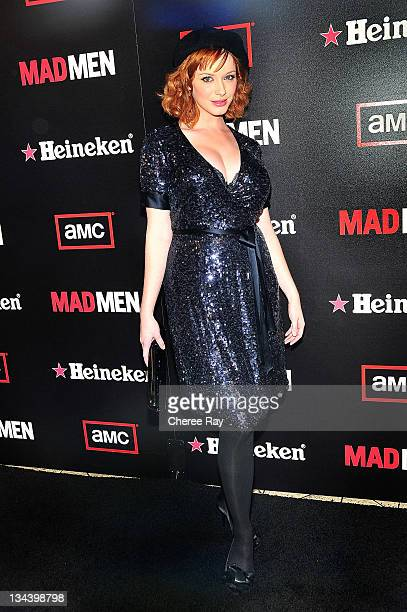 Christina Hendricks arrives at the AMC Heineken Host Season 2 Wrap Party for the EmmyNominated Show Mad Men at the Cicada on August 23rd 2008 in Los...
