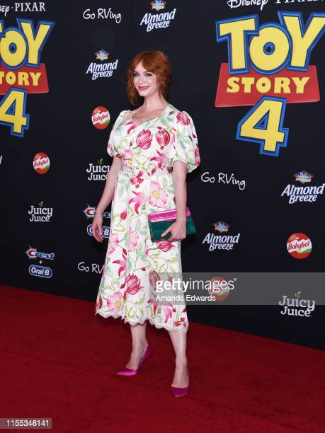 Christina Hendricks arrives at the premiere of Disney and Pixar's Toy Story 4 on June 11 2019 in Los Angeles California