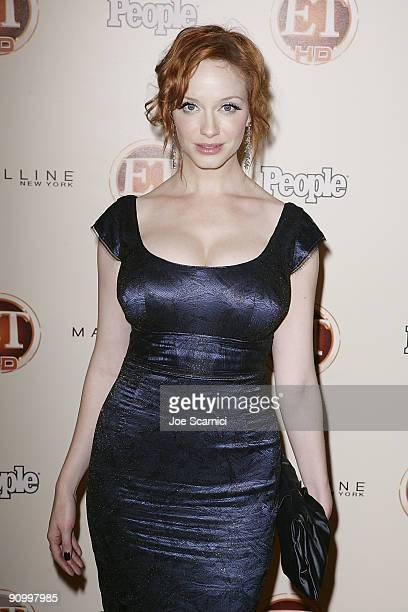 Christina Hendricks arrives at Vibiana for the 13th Annual Entertainment Tonight and People magazine Emmys After Party on September 20, 2009 in Los...