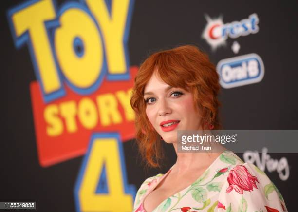 Christina Hendricks arrives to the Los Angeles premiere of Disney and Pixar's Toy Story 4 held on June 11 2019 in Los Angeles California