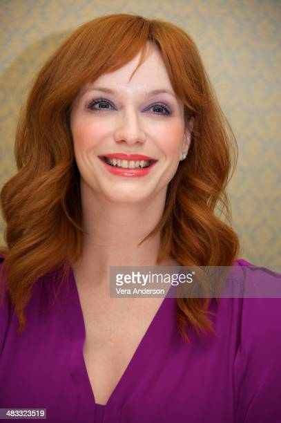 """Christina Hendricks at the """"Mad Men"""" Press Conference at the Four Seasons Hotel on April 4, 2014 in Beverly Hills, California."""