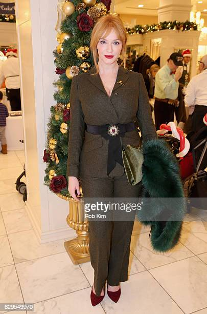 Christina Hendricks attends an evening hosted by Brooks Brothers to celebrate the holidays with St Jude Children's Research Hospital at Brooks...