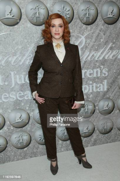 Christina Hendricks attends Brooks Brothers Annual Holiday Celebration To Benefit St Jude at The West Hollywood EDITION on December 07 2019 in West...