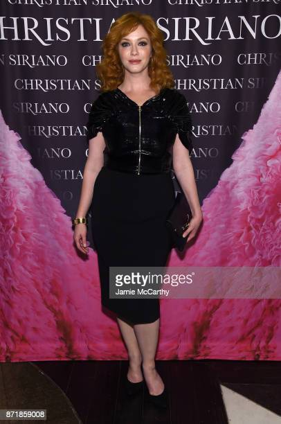 Christina Hendricks attends Christian Siriano celebrates the release of his book 'Dresses To Dream About' at the Rizzoli Flagship Store on November 8...