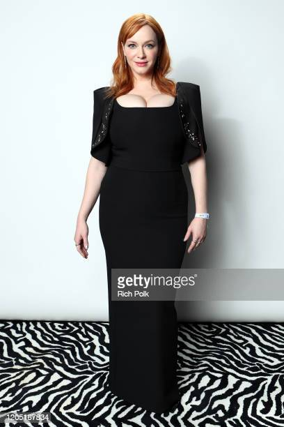Christina Hendricks attends IMDb LIVE Presented By M&M'S At The Elton John AIDS Foundation Academy Awards Viewing Party on February 09, 2020 in Los...