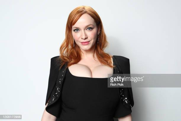 Christina Hendricks attends IMDb LIVE Presented By MM'S At The Elton John AIDS Foundation Academy Awards Viewing Party on February 09 2020 in Los...
