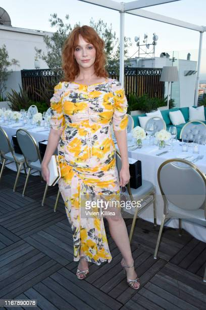 Christina Hendricks attends InStyle's Badass Women Dinner With Foster Grant at The London West Hollywood on August 13 2019 in West Hollywood...