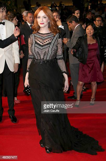 Christina Hendricks attends 'Lost River' premiere during the 67th Annual Cannes Film Festival on May 20 2014 in Cannes France