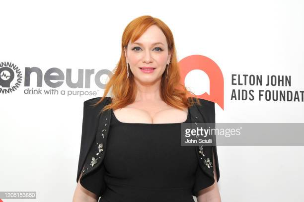 Christina Hendricks attends Neuro Brands Presenting Sponsor At The Elton John AIDS Foundation's Academy Awards Viewing Party on February 09 2020 in...