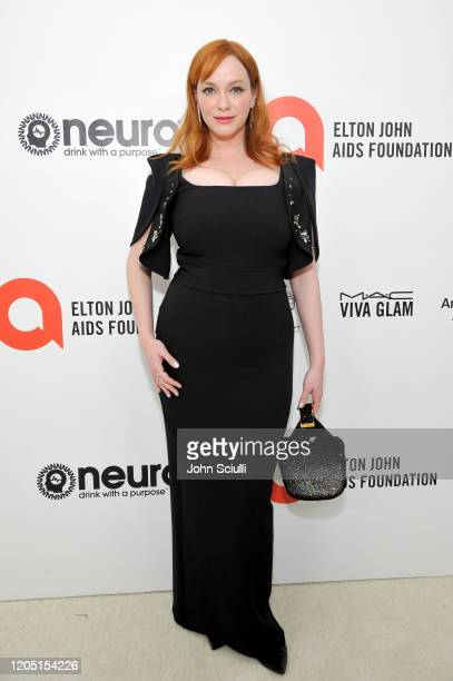 Christina Hendricks attends Neuro Brands Presenting Sponsor At The Elton John AIDS Foundation's Academy Awards Viewing Party on February 09, 2020 in...
