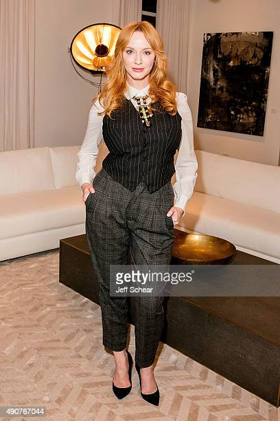 Christina Hendricks attends Restoration Hardware Celebrates The Opening Of RH Chicago The Gallery At The Three Arts Club at Restoration Hardware on...