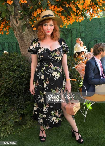 Christina Hendricks attends the 10th Annual Veuve Clicquot Polo Classic Los Angeles at Will Rogers State Historic Park on October 05, 2019 in Pacific...