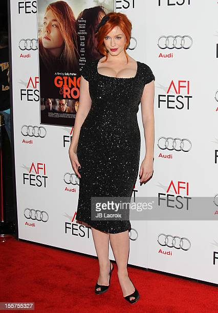 Christina Hendricks attends the 2012 AFI FEST Ginger Rosa Special Screening at Grauman's Chinese Theatre on November 7 2012 in Hollywood California