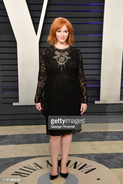 Christina Hendricks attends the 2019 Vanity Fair Oscar Party hosted by Radhika Jones at Wallis Annenberg Center for the Performing Arts on February...