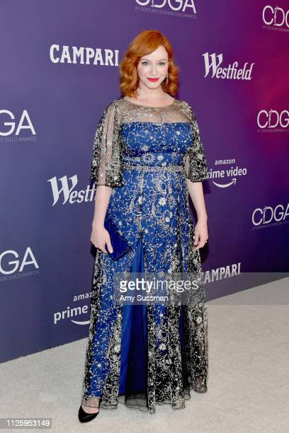 Christina Hendricks attends The 21st CDGA at The Beverly Hilton Hotel on February 19 2019 in Beverly Hills California