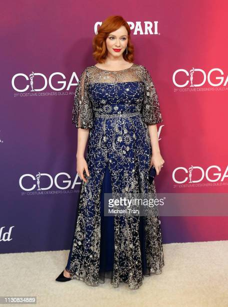 Christina Hendricks attends the 21st CDGA held on February 19 2019 in Beverly Hills California