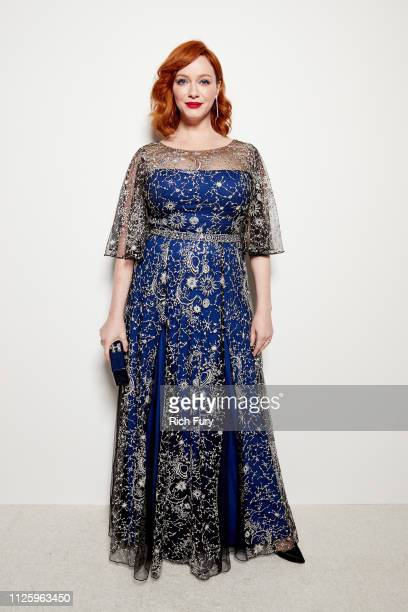 Christina Hendricks attends the 21st Costume Designers Guild Awards x Getty Images Portrait Studio presented by LG V40 ThinQ on February 19 2019 in...