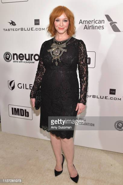 Christina Hendricks attends the 27th annual Elton John AIDS Foundation Academy Awards Viewing Party celebrating EJAF and the 91st Academy Awards on...