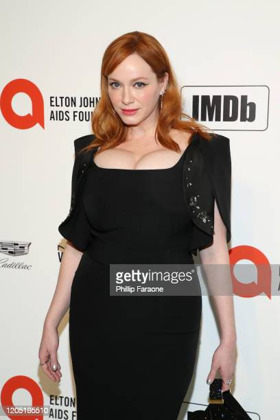 Christina Hendricks attends the 28th Annual Elton John AIDS Foundation Academy Awards Viewing Party Sponsored By IMDb Neuro Drinks And Walmart on...