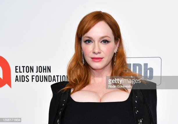 Christina Hendricks attends the 28th Annual Elton John AIDS Foundation Academy Awards Viewing Party Sponsored By IMDb And Neuro Drinks on February 09...