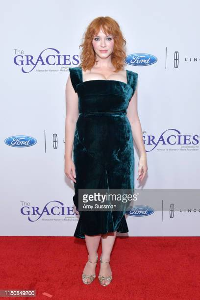 Christina Hendricks attends the 44th Annual Gracies Awards hosted by The Alliance for Women in Media Foundation at the Beverly Wilshire Four Seasons...