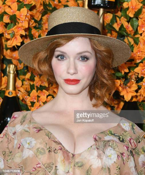 Christina Hendricks attends the 9th Annual Veuve Clicquot Polo Classic Los Angeles at Will Rogers State Historic Park on October 6 2018 in Pacific...