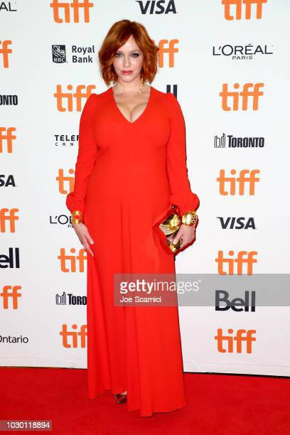 Christina Hendricks attends the American Woman premiere during 2018 Toronto International Film Festival at Princess of Wales Theatre on September 9...