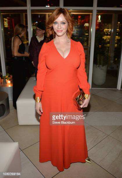 Christina Hendricks attends the American Woman premiere party at KOST on September 9 2018 in Toronto Canada