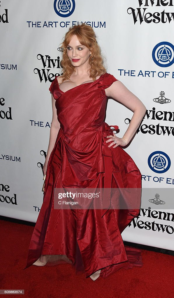 Christina Hendricks attends the Art of Elysium 2016 HEAVEN Gala presented by Vivienne Westwood & Andreas Kronthaler at 3LABS on January 9, 2016 in Culver City, California.