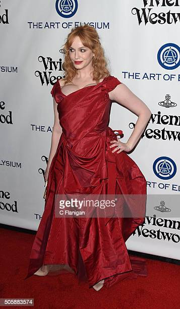Christina Hendricks attends the Art of Elysium 2016 HEAVEN Gala presented by Vivienne Westwood Andreas Kronthaler at 3LABS on January 9 2016 in...