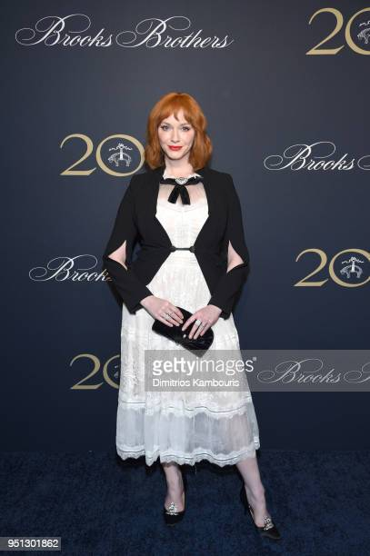 Christina Hendricks attends the Brooks Brothers Bicentennial Celebration at Jazz At Lincoln Center on April 25 2018 in New York City