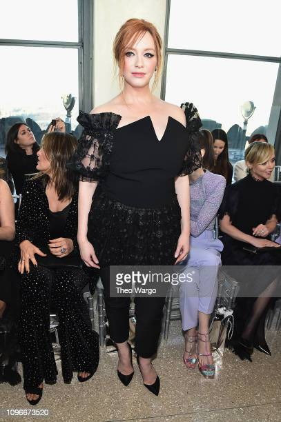 Christina Hendricks attends the Christian Siriano front row during New York Fashion Week The Shows at Top of the Rock on February 9 2019 in New York...