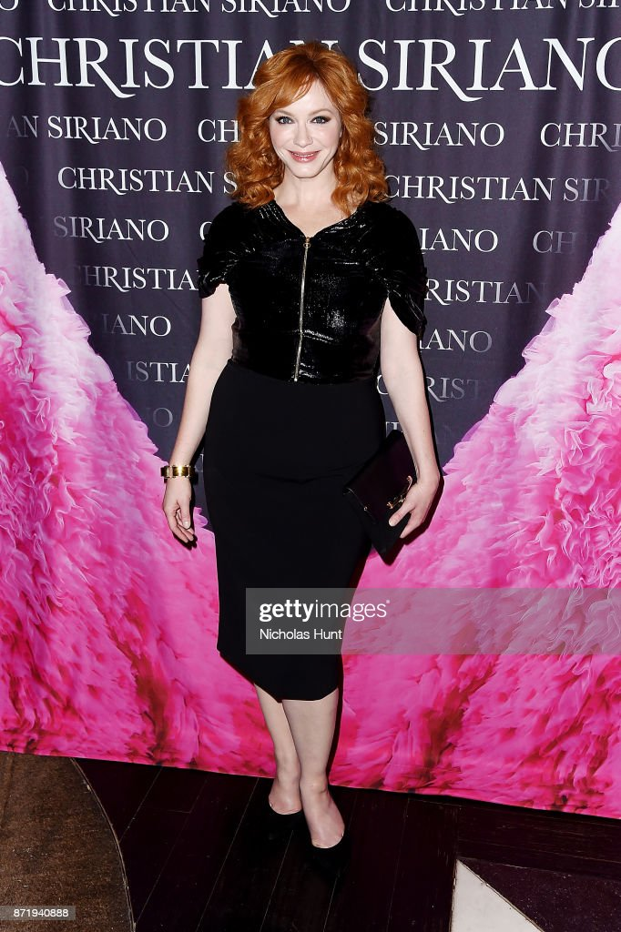 Christina Hendricks attends The Launch Party for Christian Siriano's New Book 'Dresses To Dream About' at Rizzoli Bookstore on November 8, 2017 in New York City.
